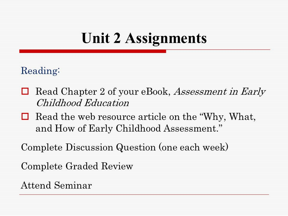 preschool assessment checklist