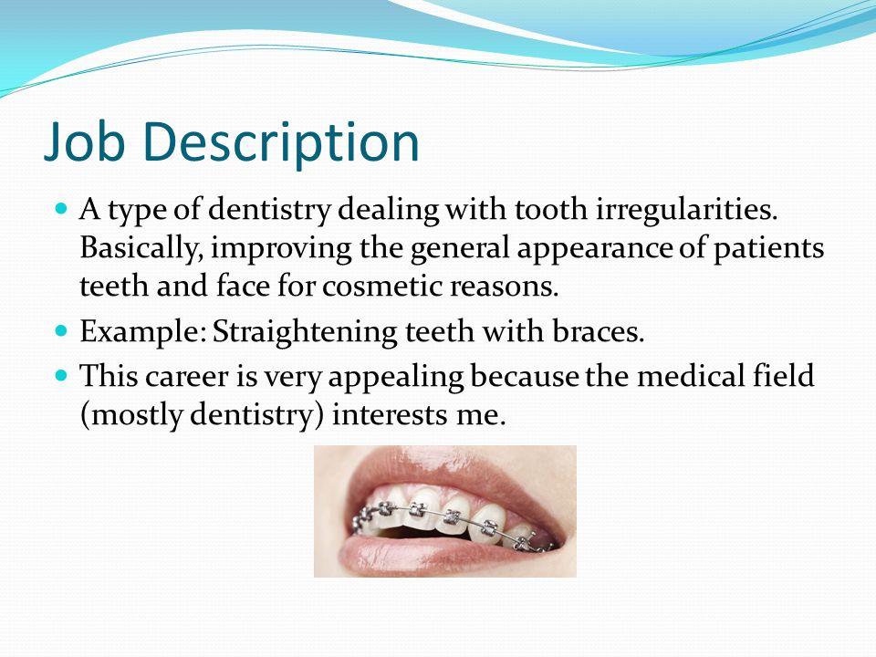 job description for a dentist