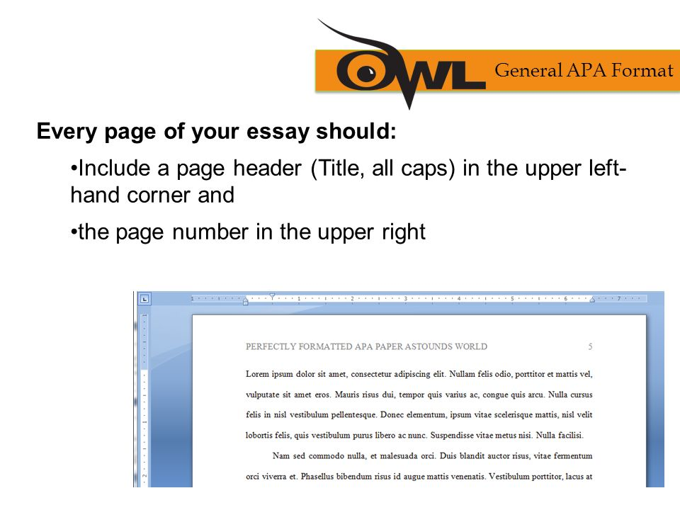 apa formatting and style guide purdue owl staff brought to you in
