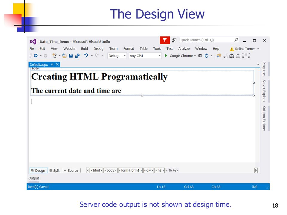 1111 Creating HTML Programatically Objectives You will be