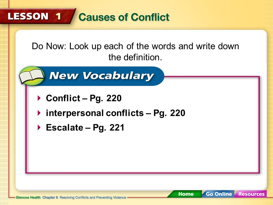 2 Causes Of Conflict 117 Click Here To Launch Video Download Print Activity