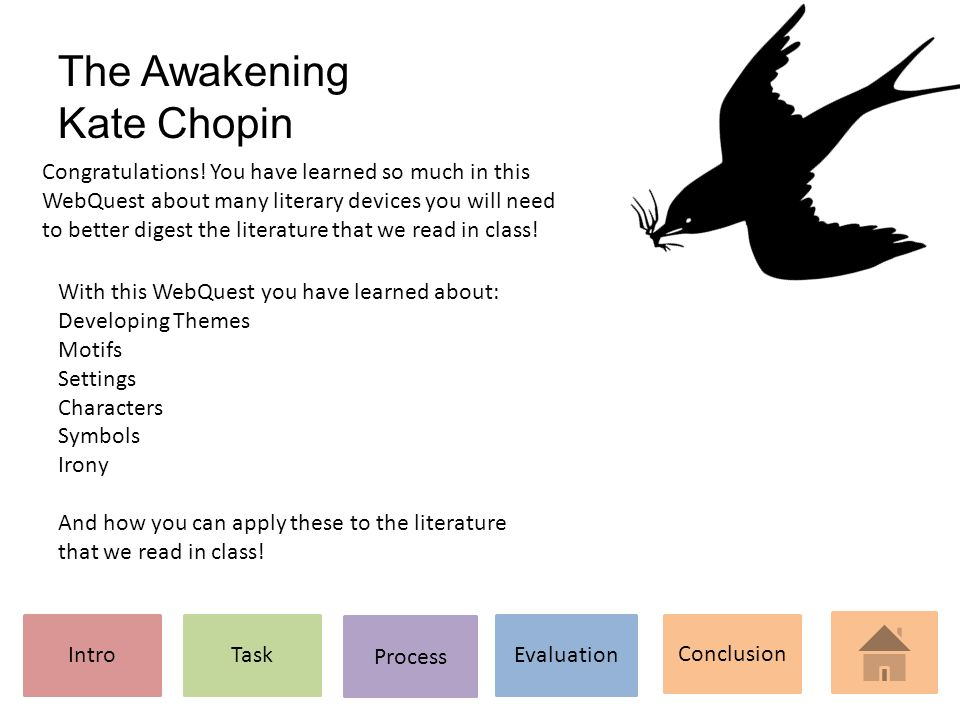 The Awakening Kate Chopin Introtask Process Evaluation Conclusion