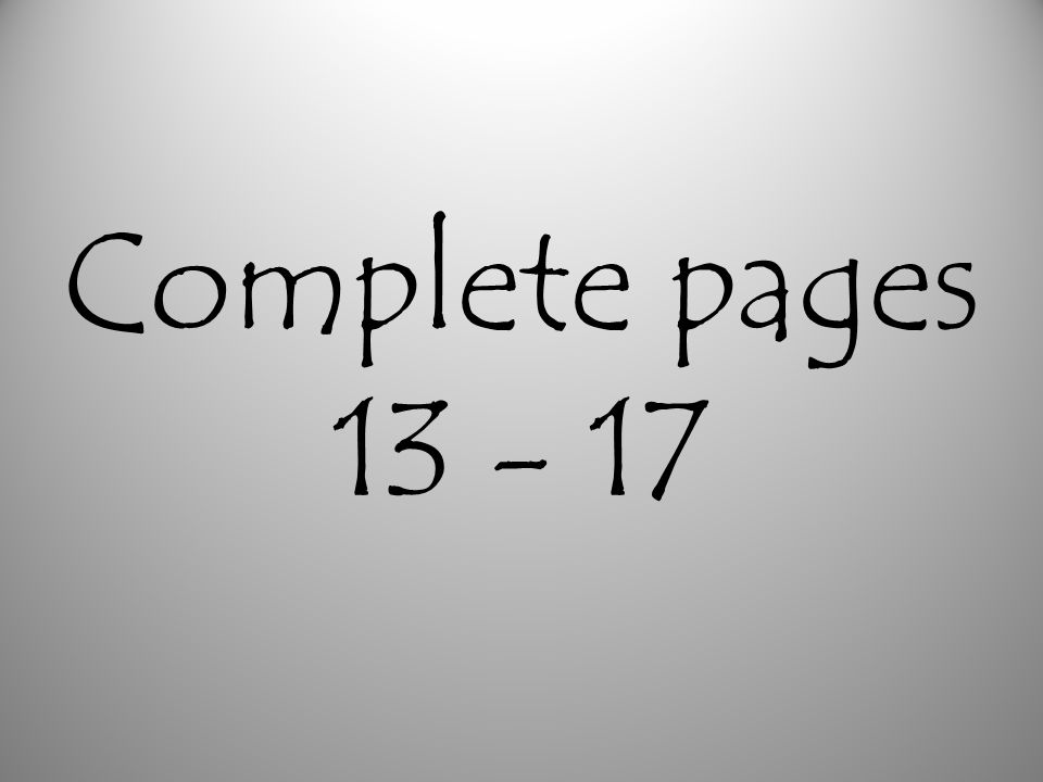 Complete pages
