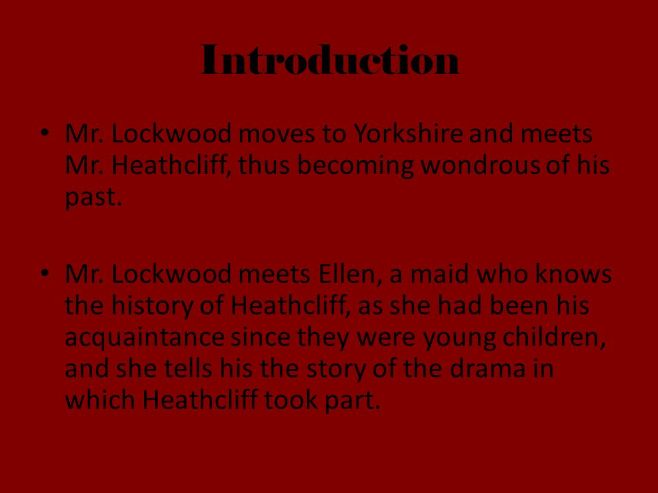 mr lockwood wuthering heights