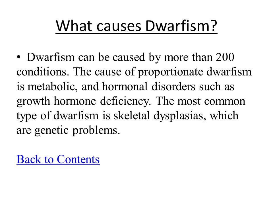 causes of dwarfism