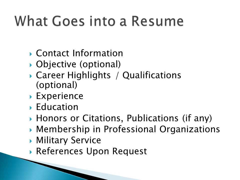 What Goes On A Resume - twnctry