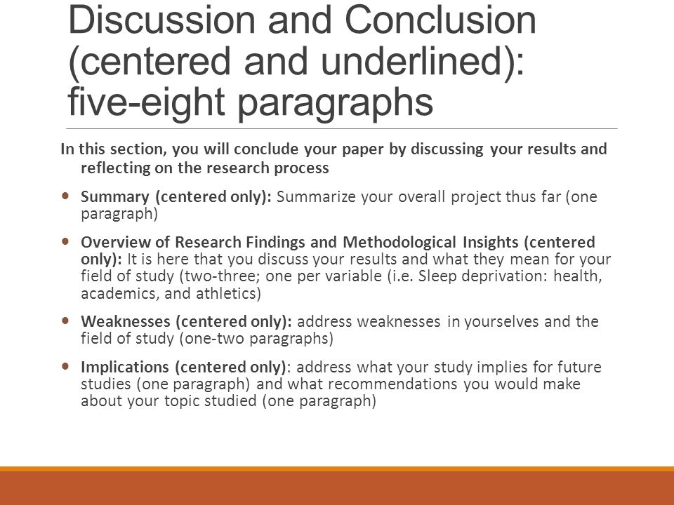 what should be in a conclusion of a research paper