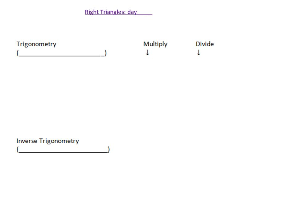 Trigonometry G8 Obj Swbat Use Basic Trig Functions 83 Ppt. 8 Here's A Pnemonic To Remember The Trig Functions. Worksheet. Worksheet Trig Ratios In Right Triangles At Mspartners.co