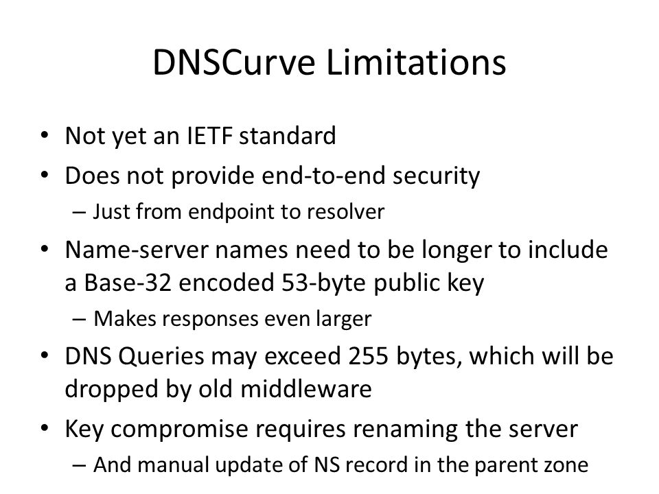 Ch 6: DNSSEC and Beyond Update...
