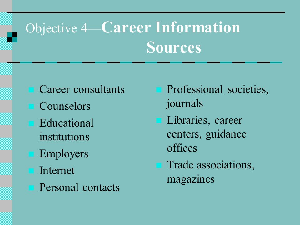 Career Orientation— 2 nd Edition Unit 3: Planning a Career. - ppt ...