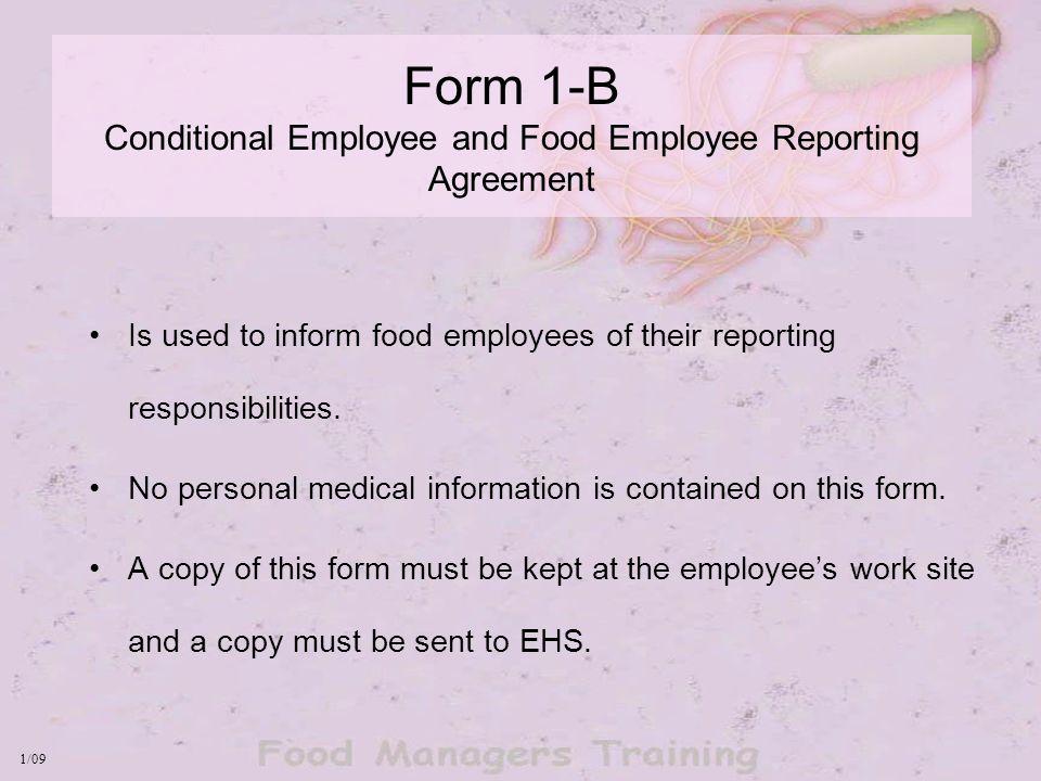 West Virginia Food Code Food Employee Health Reporting Requirements