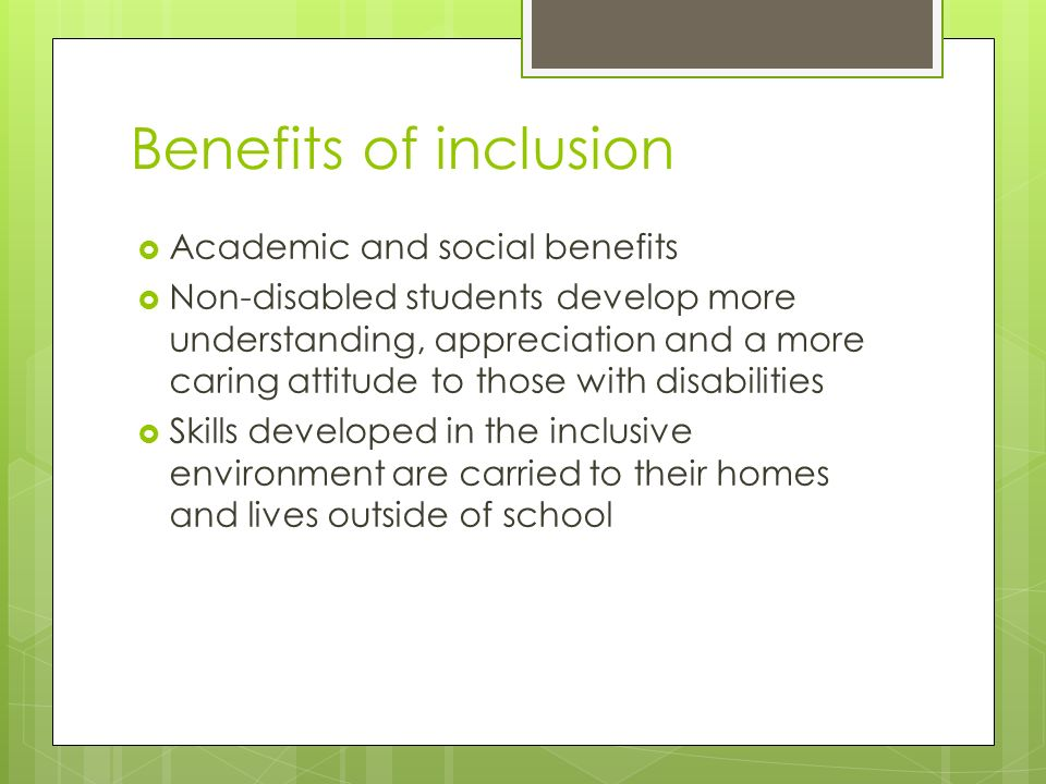 benefits for disabled students