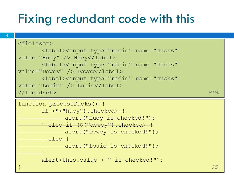 Events CS The keyword this  all JavaScript code actually