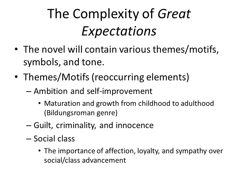 social class in great expectations