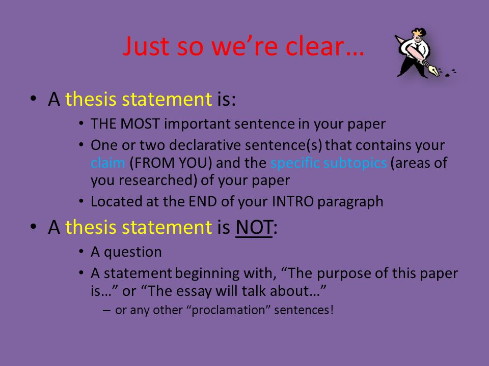 declarative thesis statement examples