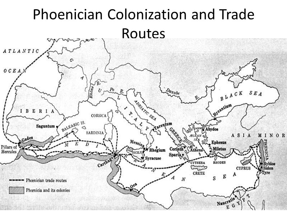 Phoenician Colonization and Trade Routes