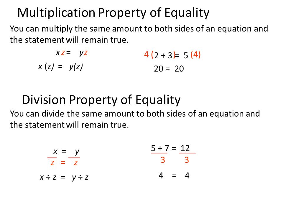 You can multiply the same amount to both sides of an equation and the statement will remain true.