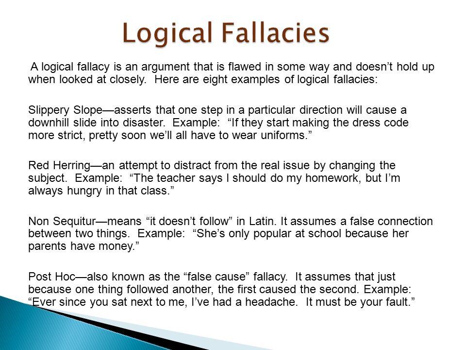 Fallacio definition
