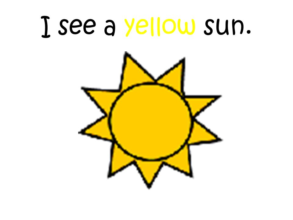 I see a yellow sun.
