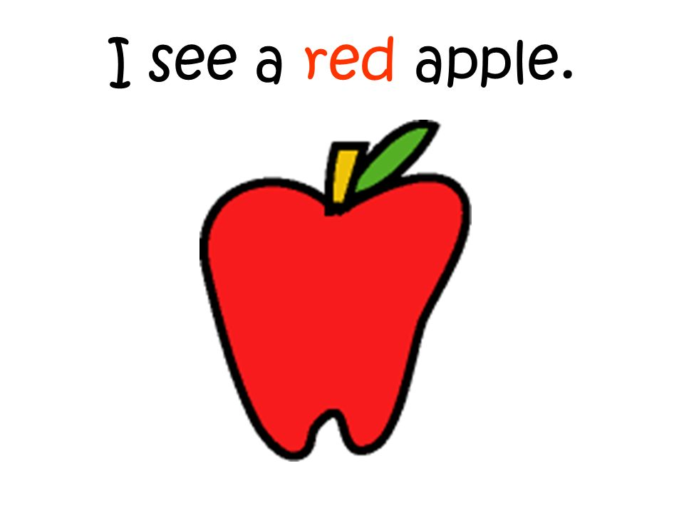 I see a red apple.