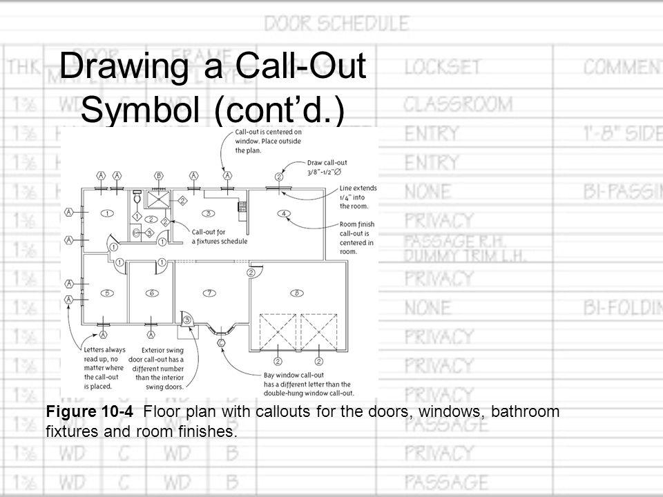 How to draw doors and windows schedule