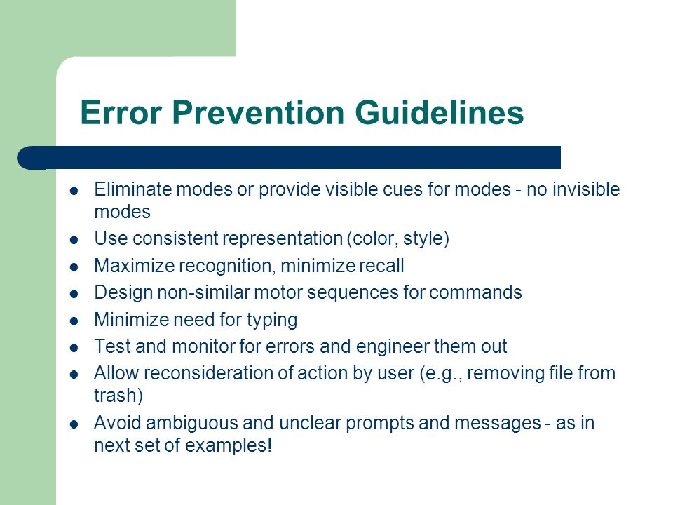 Constraints and Errors An ounce of prevention…  Outline