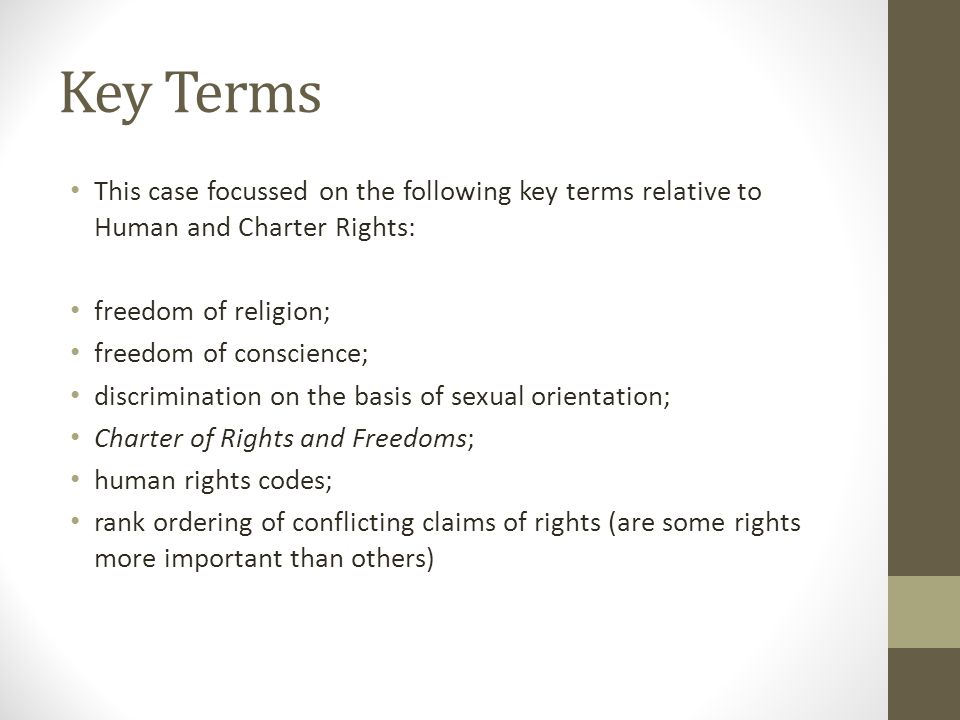 Sexual orientation charter of rights and freedoms