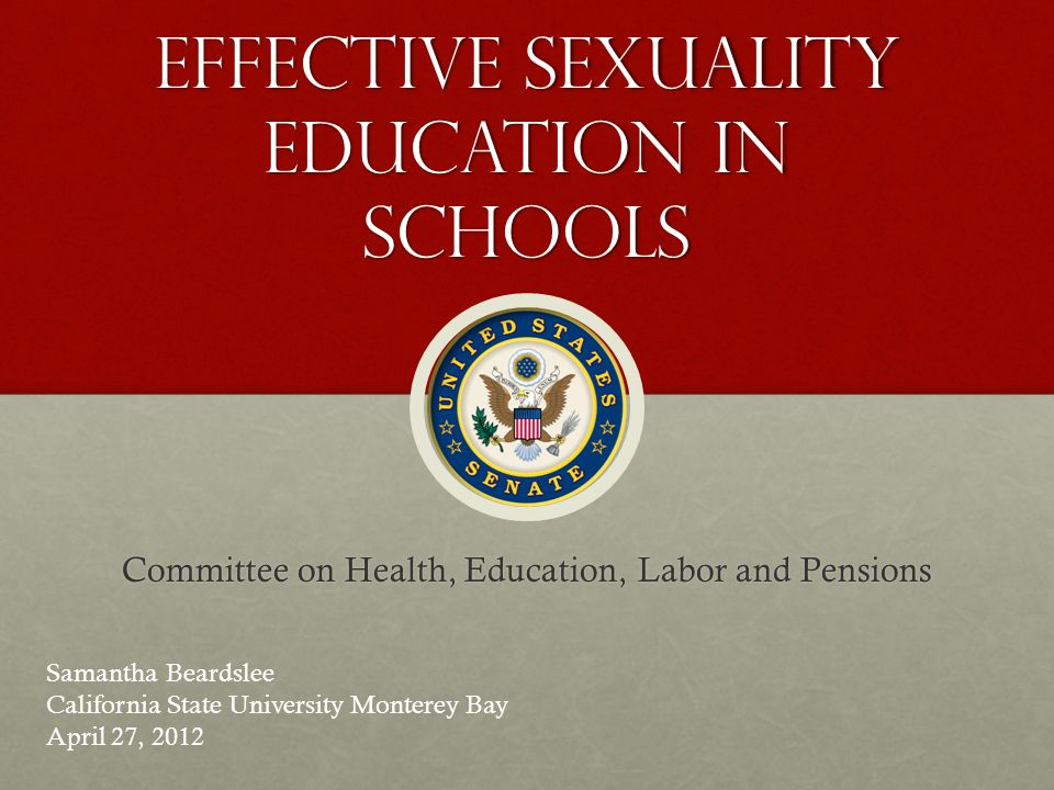 Effectiveness of sexual education