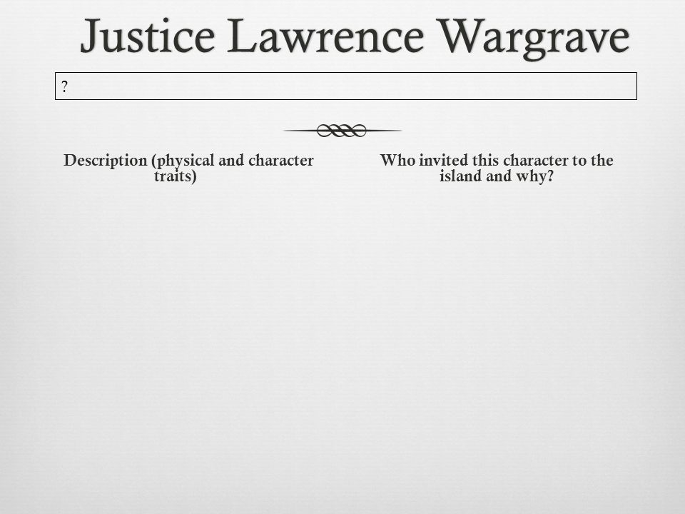 justice wargrave