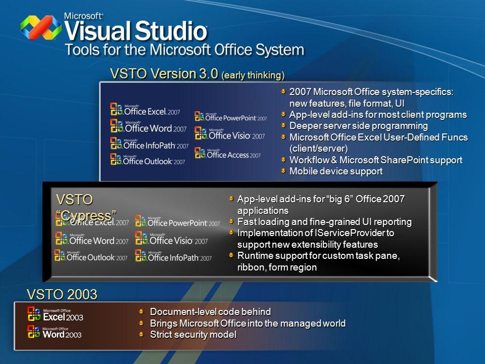 The Office Development Platform & Visual Studio Tools for Office