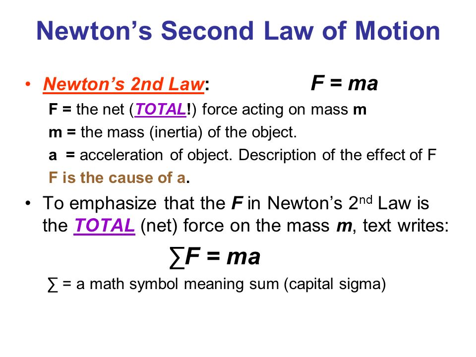 newtons second law practical report to determine Newtons law of inertia home history of discovery 1) a four kilogram object is moving across a frictionless surface with a constant velocity of 2 meters per second 2) a net force of 10 newtons acts on a box which has a mass of 2 kg what will be the acceleration of the box.