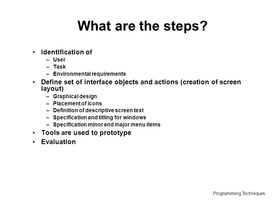 Programming Techniques Lecture 11 User Interface Design Based On Software Engineering A Practitioner S Approach 6 E R S Pressman Software Engineering Ppt Download