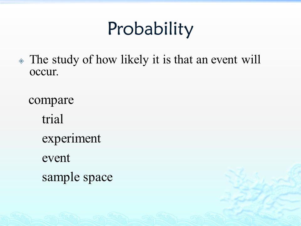 Elementary Probability Definition Three Types Of Probability