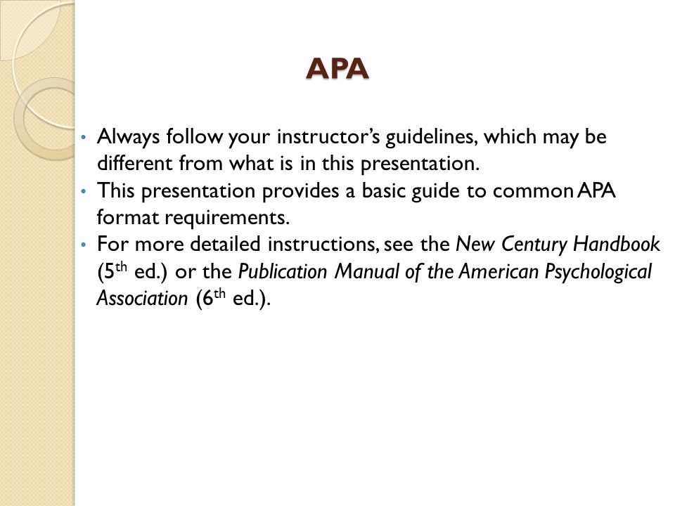 apa style apa social sciences such as psychology generally use