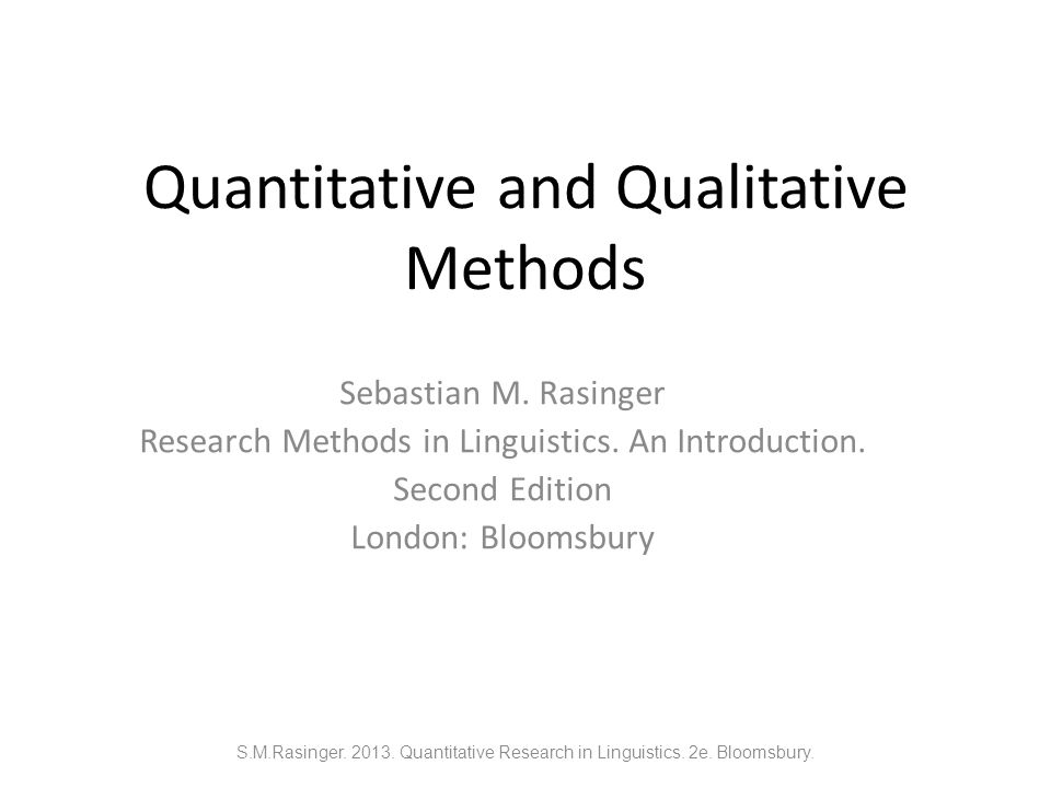 what is quantitative