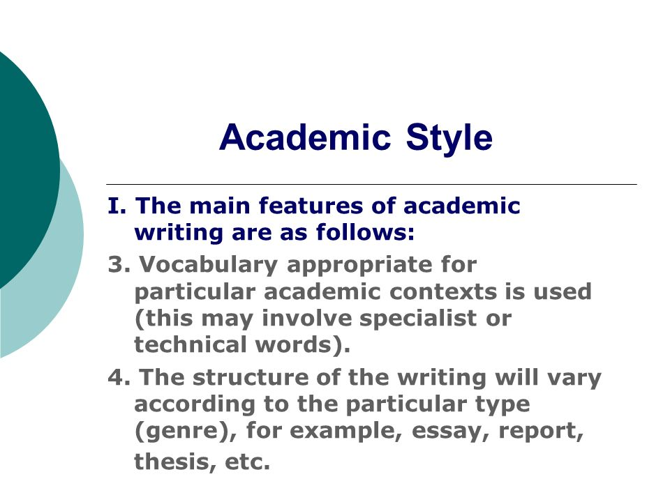 academic report writing Academic report writing is a sub-part of report writing which is written to serve a specific purpose to the targeted readers its structure is the same as report structure but it involves a thorough research about the academic condition of the school, student or country or the theme provided for the assignment.