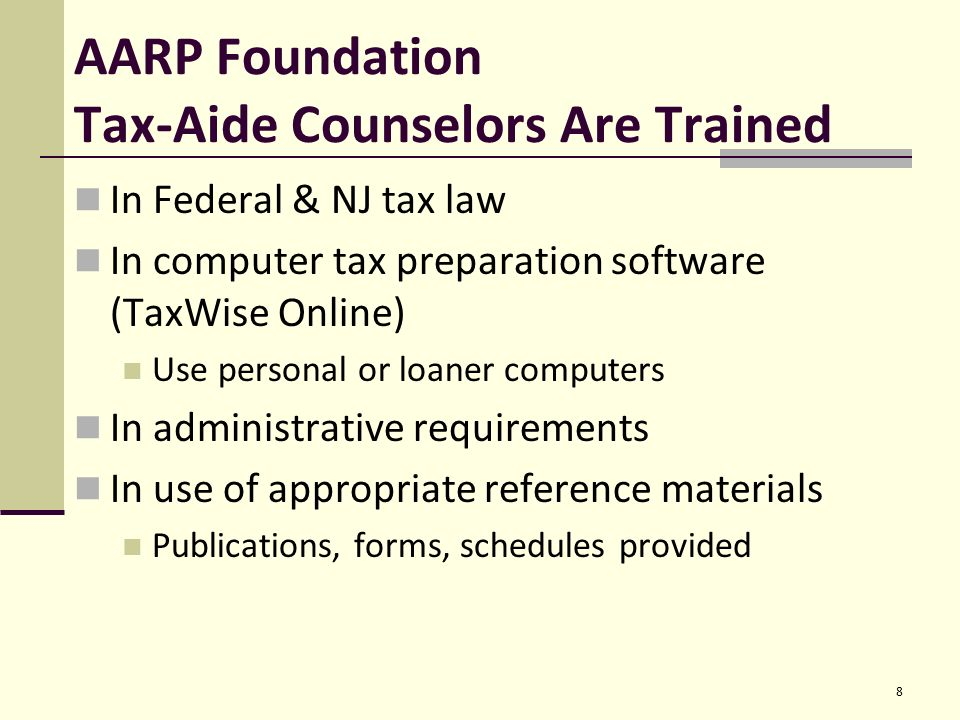 familiarization training nj tax-aide 2015 – 2016 somerset county ppt ...