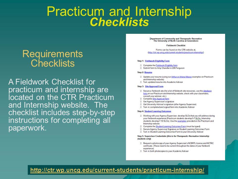 Practicum And Internship In Ctr Ctr Practicum In Recreation