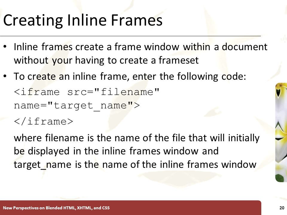 INTRODUCTORY Tutorial 9 Creating Frames. XP New Perspectives on ...