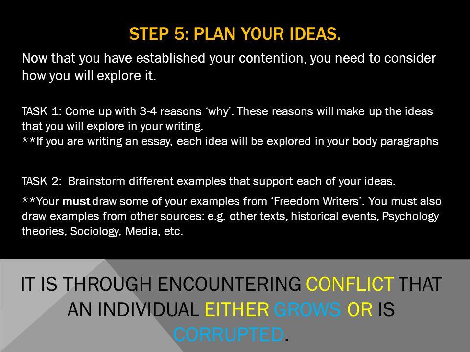 conflict essays examples