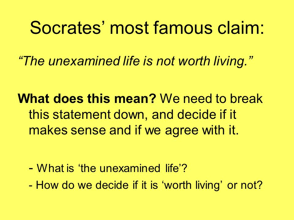 socrates the unexamined life is not worth living meaning