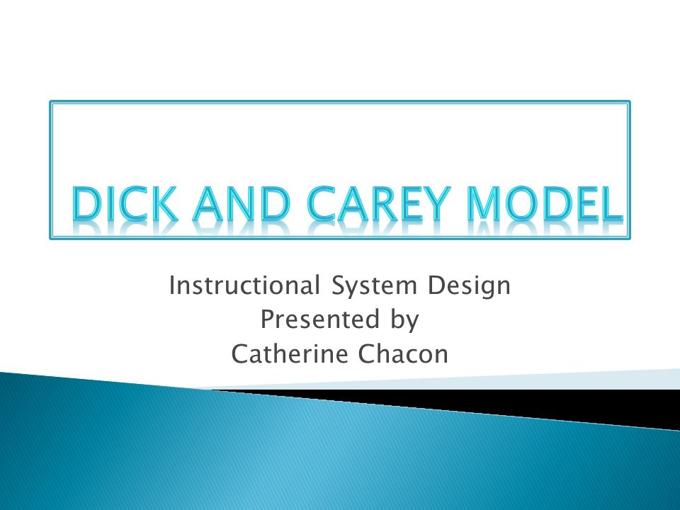 Instructional System Design Presented By Catherine Chacon Ppt