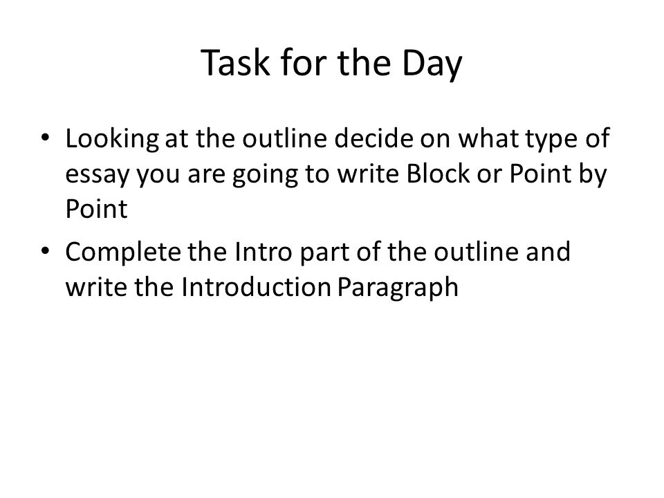 point point block essays Example shows how one writer gathered information for an essay comparing general robert e lee with general ulysses s grant, two rivaling generals during the civil war point of comparison/contrast.