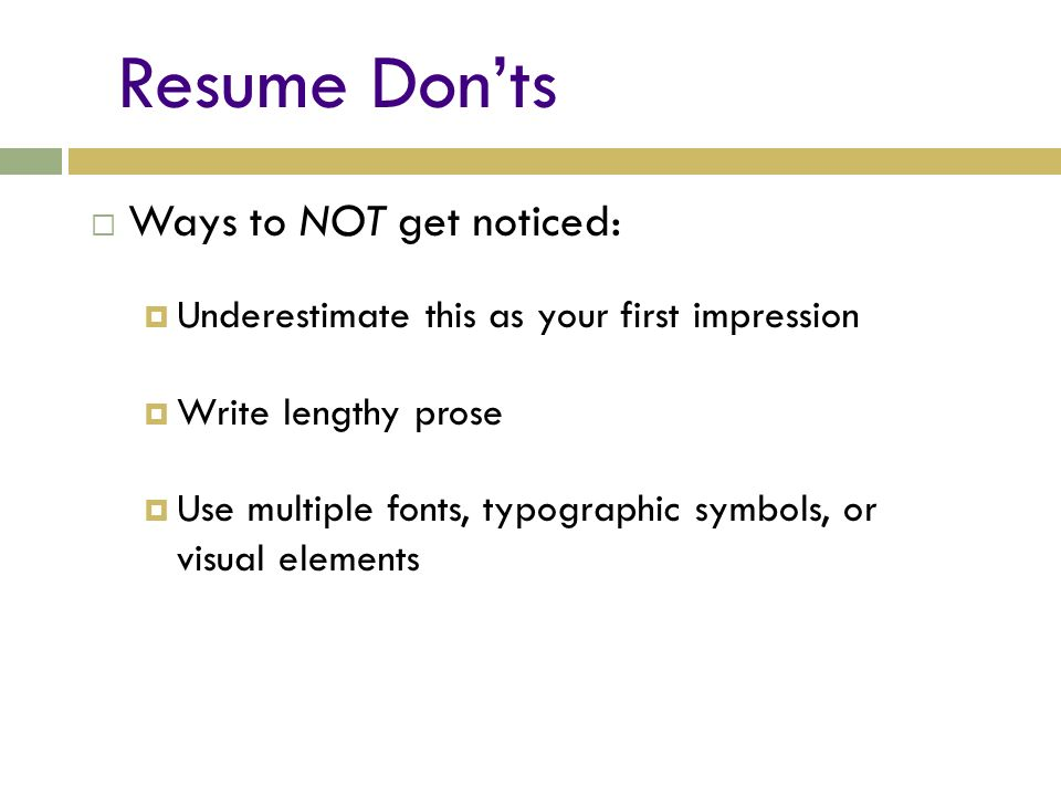 The Ten-Second Résumé Presented by Laura Needs Adapted from Ball ...