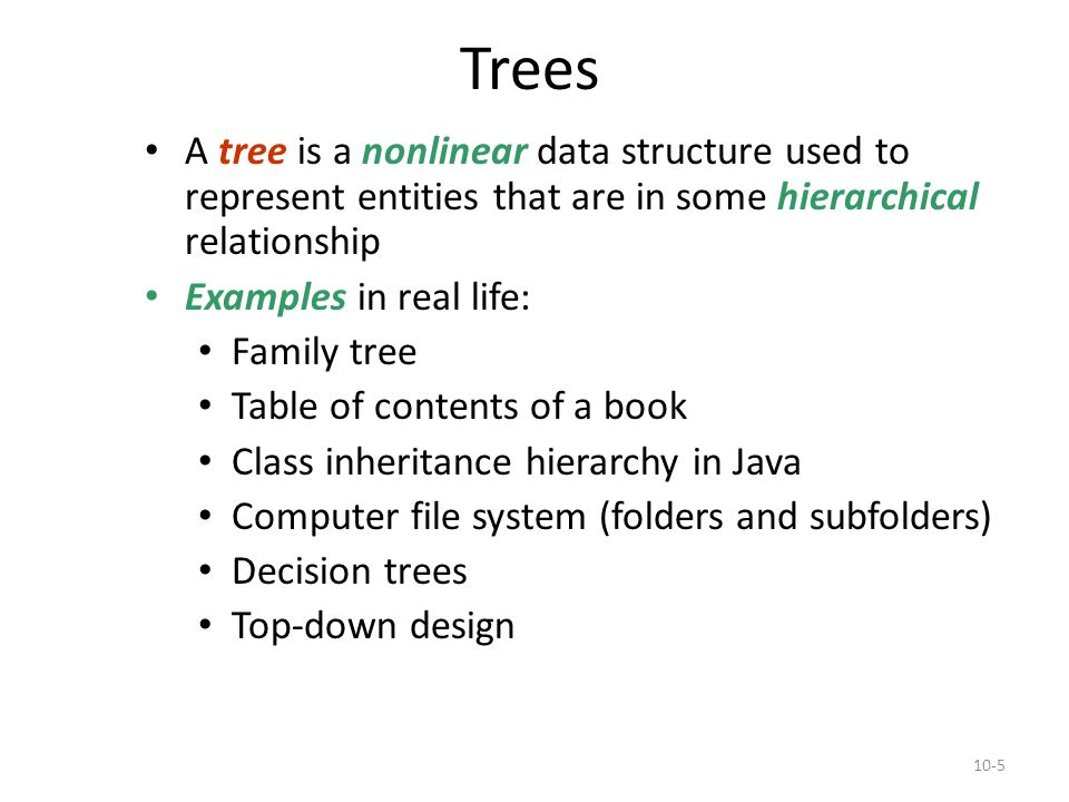 Data structure.