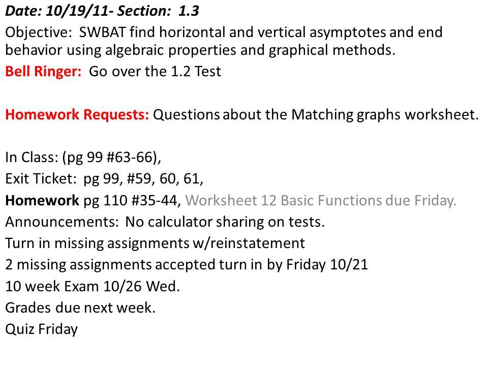 Date 101711 Section 13 Obj Swbat Analyze The Behaviors Of 12