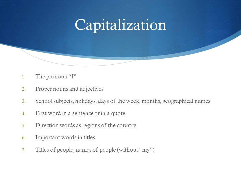 Capitalization, Quotation Marks, Italics & Underlining Usage