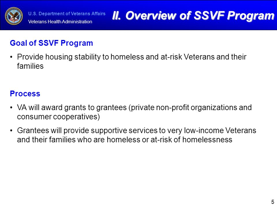 U S  Department of Veterans Affairs Veterans Health