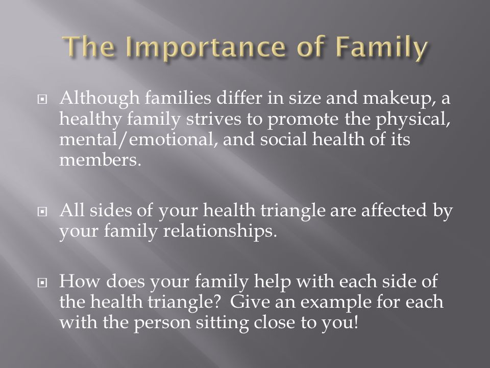 importance of family in society