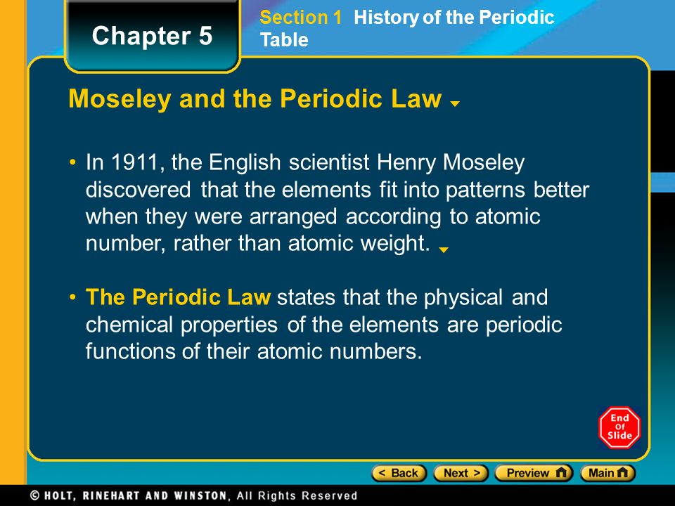 Lesson starter share what you have learned previously about the 6 moseley and the periodic law in 1911 the english scientist henry moseley discovered that the elements fit into patterns better when they were arranged urtaz Images